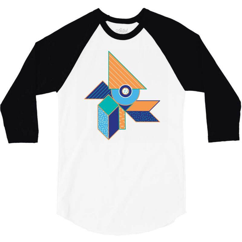 Geometrical 3/4 Sleeve Shirt   Artistshot