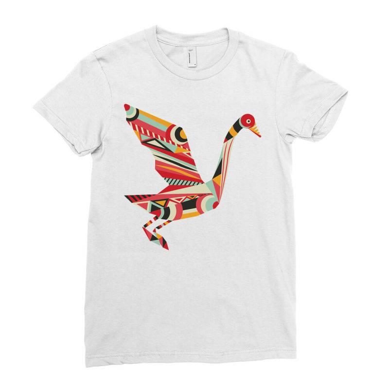 Geometric Shapes Bird Ladies Fitted T-shirt | Artistshot