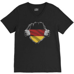 german flag V-Neck Tee | Artistshot