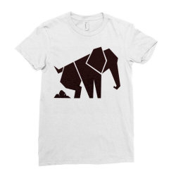 geometric elephant Ladies Fitted T-Shirt | Artistshot