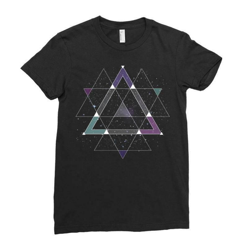Geometric Space Ladies Fitted T-shirt   Artistshot