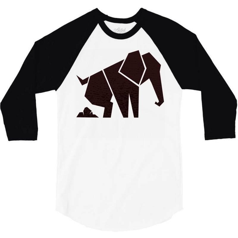 Geometric Elephant 3/4 Sleeve Shirt | Artistshot