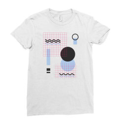 geometric shapes Ladies Fitted T-Shirt | Artistshot