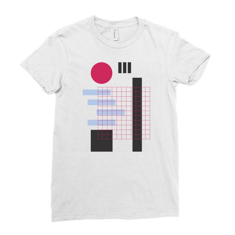 Geometric Mesh Ladies Fitted T-shirt | Artistshot