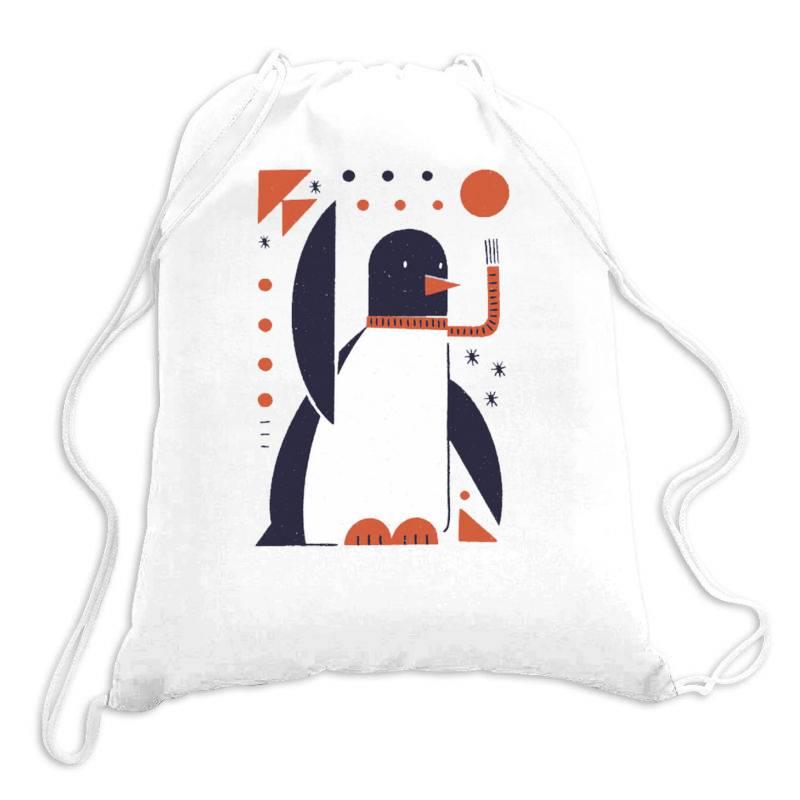 Geometric Penguin Drawstring Bags | Artistshot