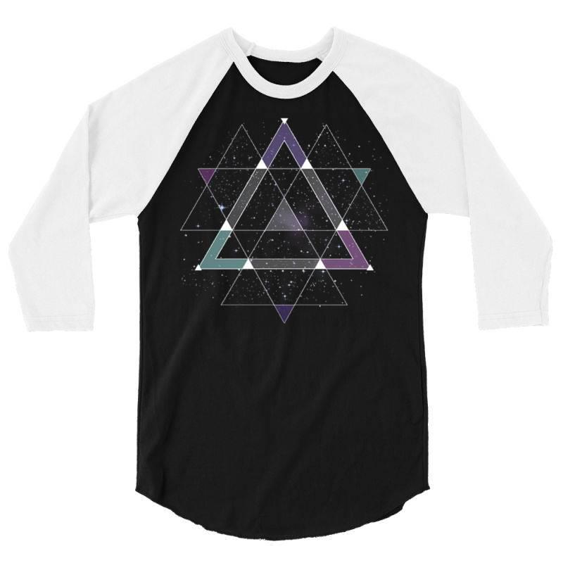 Geometric Space 3/4 Sleeve Shirt   Artistshot