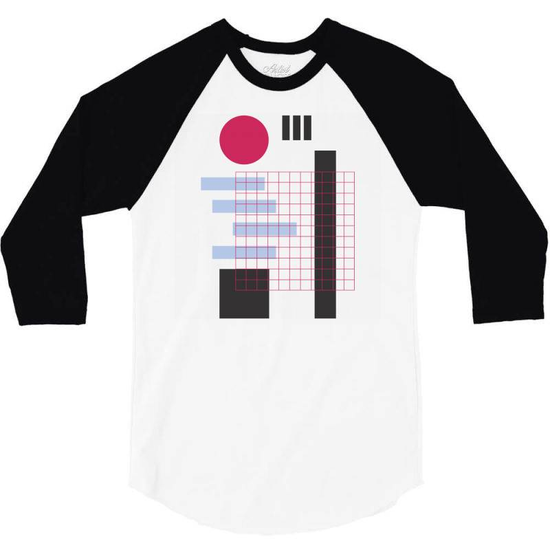Geometric Mesh 3/4 Sleeve Shirt   Artistshot