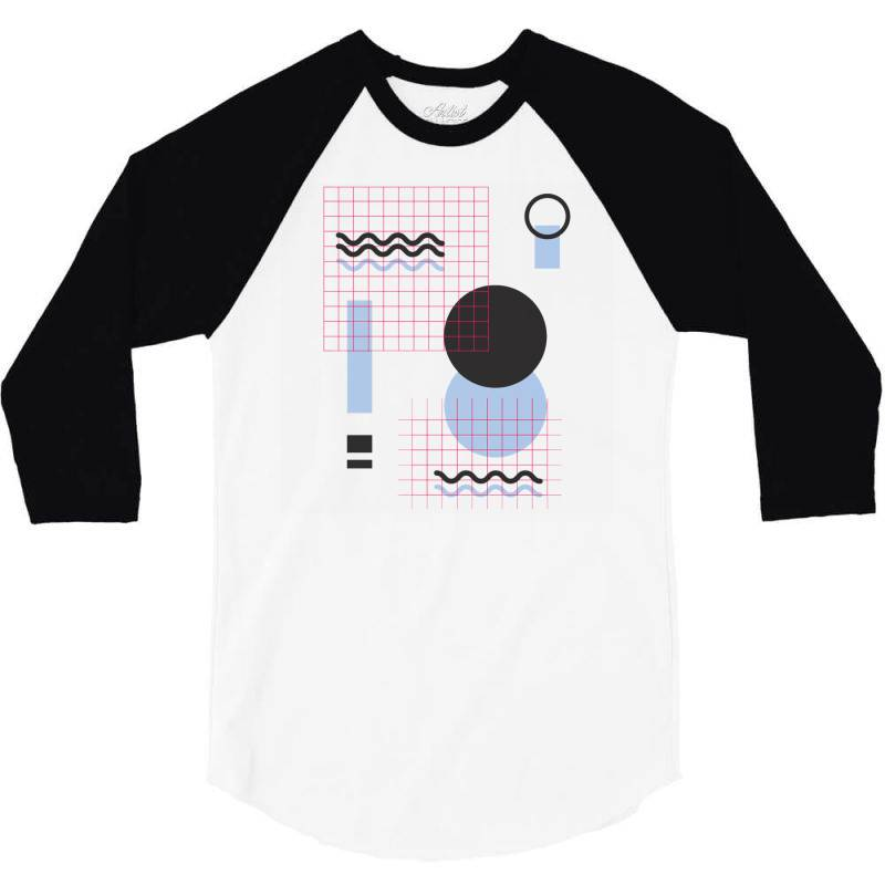 Geometric Shapes 3/4 Sleeve Shirt | Artistshot