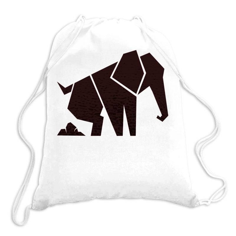 Geometric Elephant Drawstring Bags | Artistshot