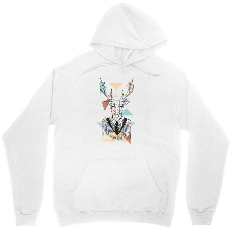 Geometric Deer Unisex Hoodie | Artistshot