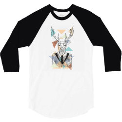 geometric deer 3/4 Sleeve Shirt | Artistshot