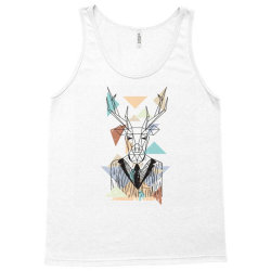 geometric deer Tank Top | Artistshot