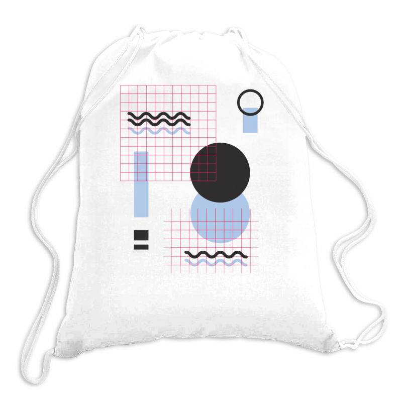 Geometric Shapes Drawstring Bags | Artistshot