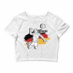 german volleyball man Crop Top   Artistshot