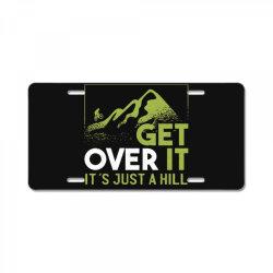 get over it License Plate   Artistshot