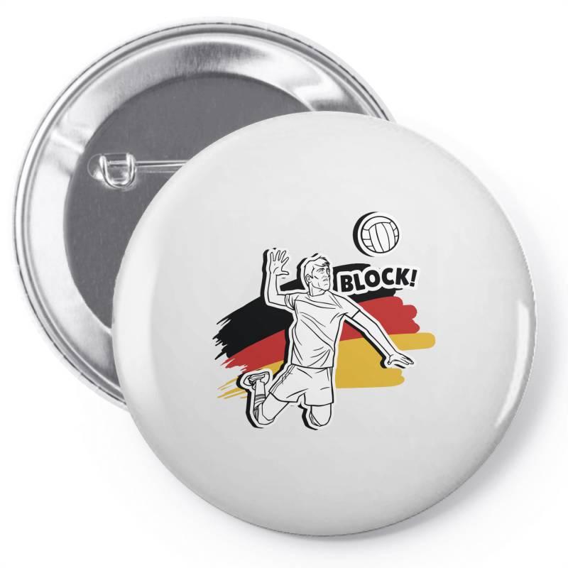 German Volleyball Man Pin-back Button | Artistshot