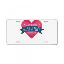 german heart love License Plate | Artistshot