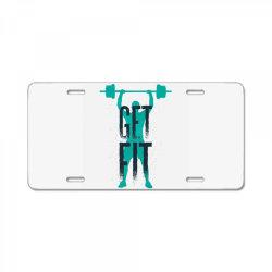 get fit License Plate | Artistshot