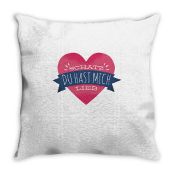german heart love Throw Pillow | Artistshot