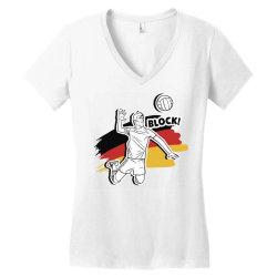 german volleyball man Women's V-Neck T-Shirt   Artistshot