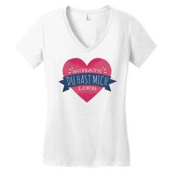 german heart love Women's V-Neck T-Shirt | Artistshot