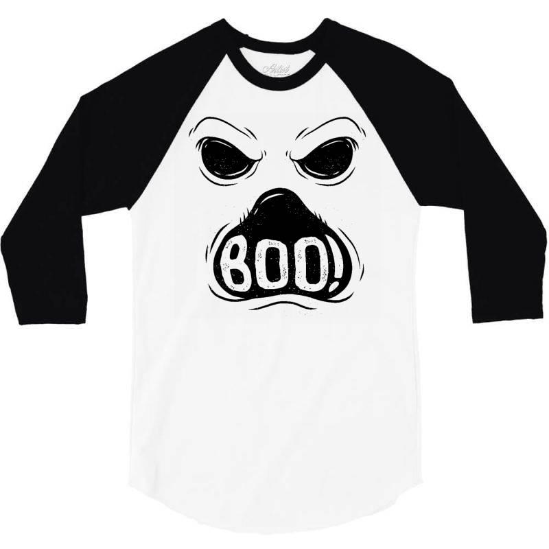 Ghost Boo 3/4 Sleeve Shirt   Artistshot