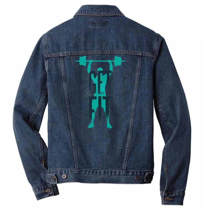 Get Fit Men Denim Jacket | Artistshot