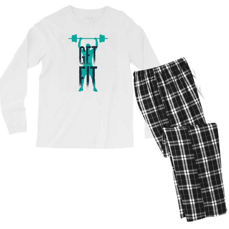 Get Fit Men's Long Sleeve Pajama Set | Artistshot