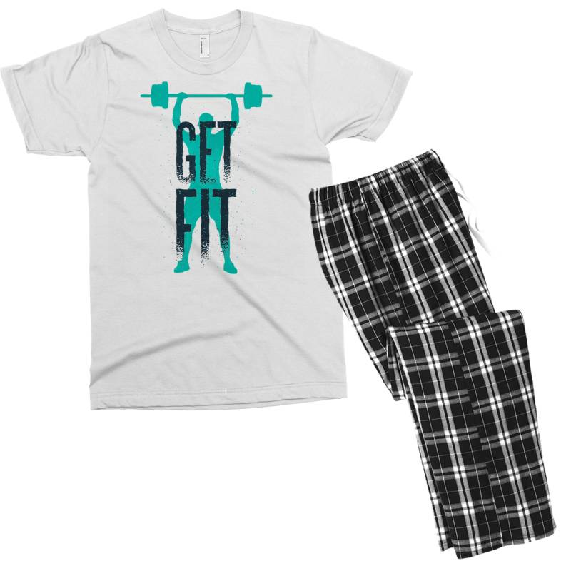 Get Fit Men's T-shirt Pajama Set | Artistshot