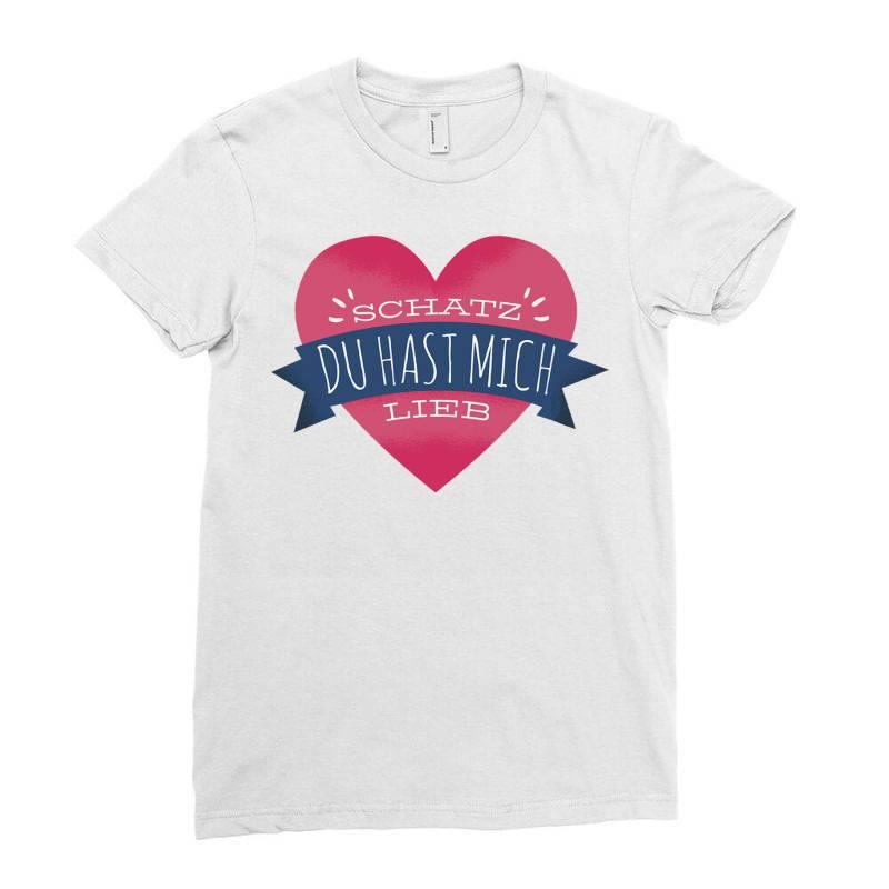 German Heart Love Ladies Fitted T-shirt | Artistshot