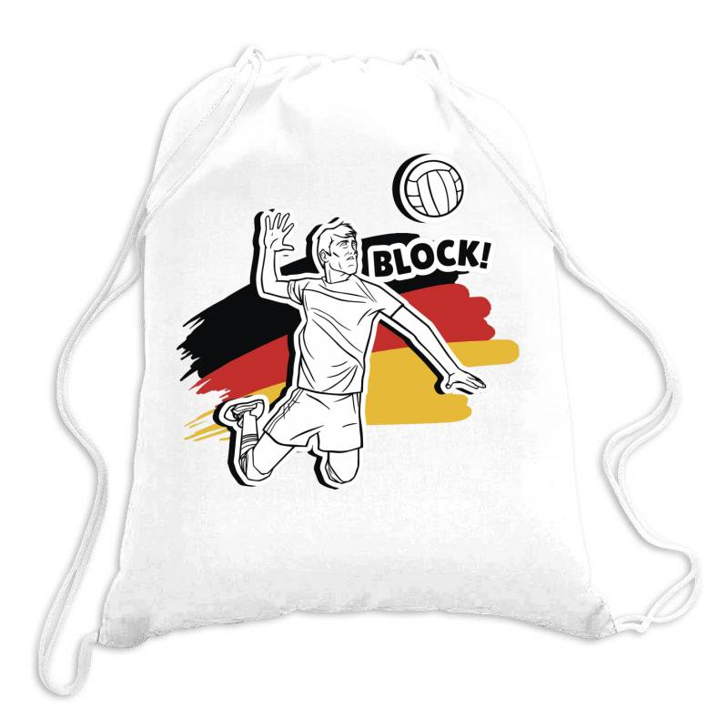 German Volleyball Man Drawstring Bags | Artistshot