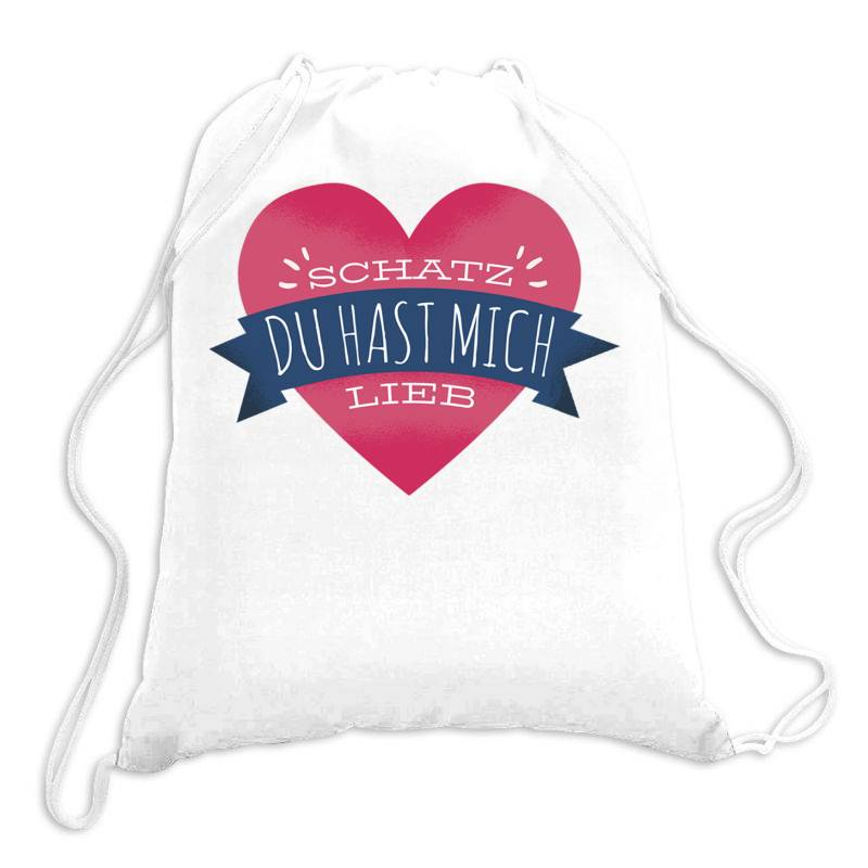German Heart Love Drawstring Bags | Artistshot