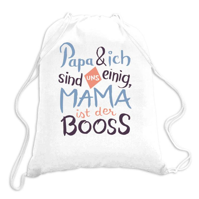 German Mama Boss Drawstring Bags | Artistshot
