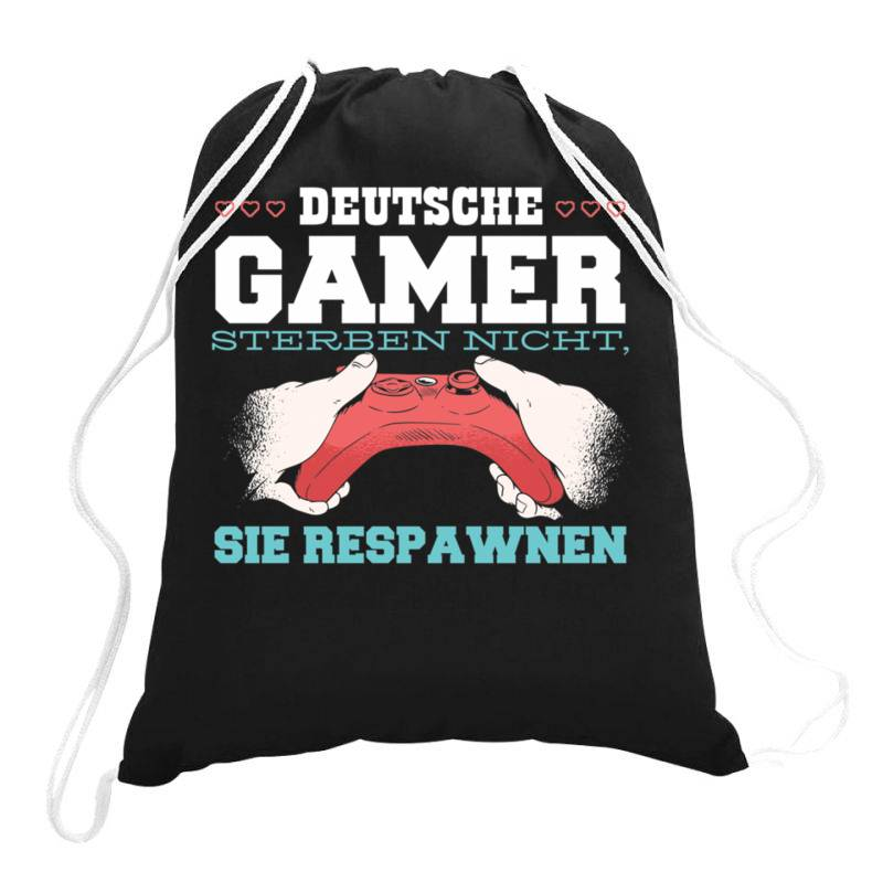 German Gamer Drawstring Bags | Artistshot
