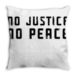 no justice no peace Throw Pillow | Artistshot