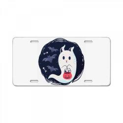 ghost cat License Plate | Artistshot