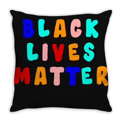 Blm Throw Pillow Designed By Black Box