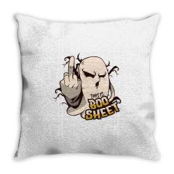 ghost flipping off Throw Pillow | Artistshot