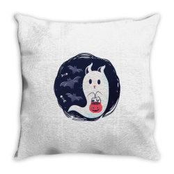 ghost cat Throw Pillow | Artistshot