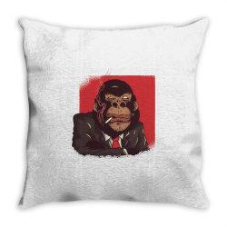 gorilla boss Throw Pillow | Artistshot