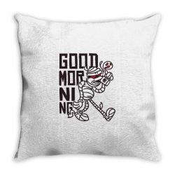 good morning mummy Throw Pillow | Artistshot