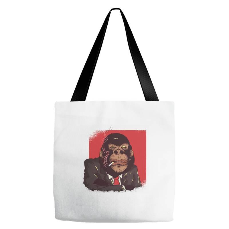 Gorilla Boss Tote Bags | Artistshot