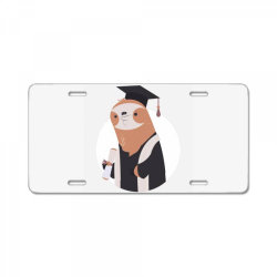graduate sloth License Plate | Artistshot