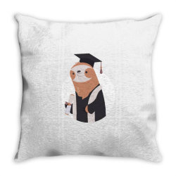 graduate sloth Throw Pillow | Artistshot