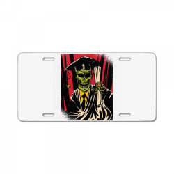 graduate skull License Plate   Artistshot