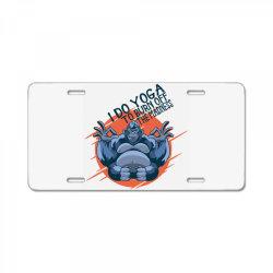 gorilla meditaiting License Plate | Artistshot