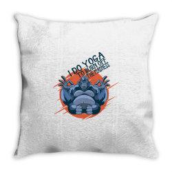 gorilla meditaiting Throw Pillow | Artistshot