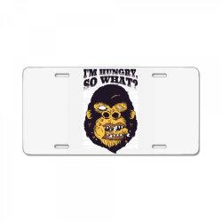 gorilla hungry License Plate | Artistshot