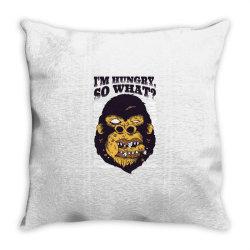 gorilla hungry Throw Pillow | Artistshot