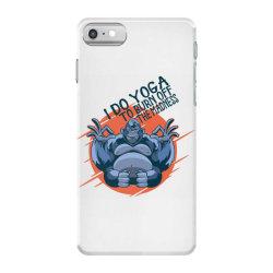 gorilla meditaiting iPhone 7 Case | Artistshot